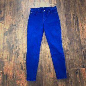 7 For All Mankind Dark Purple Skinny Jeans